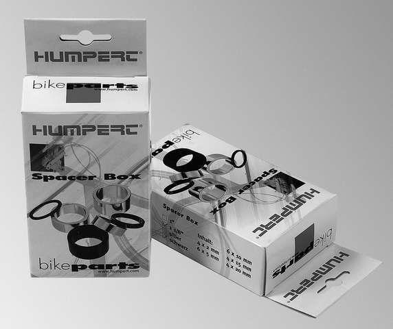 Humpert Ergotec Spacerbox 24 teilig 1 1/8 Zoll silber
