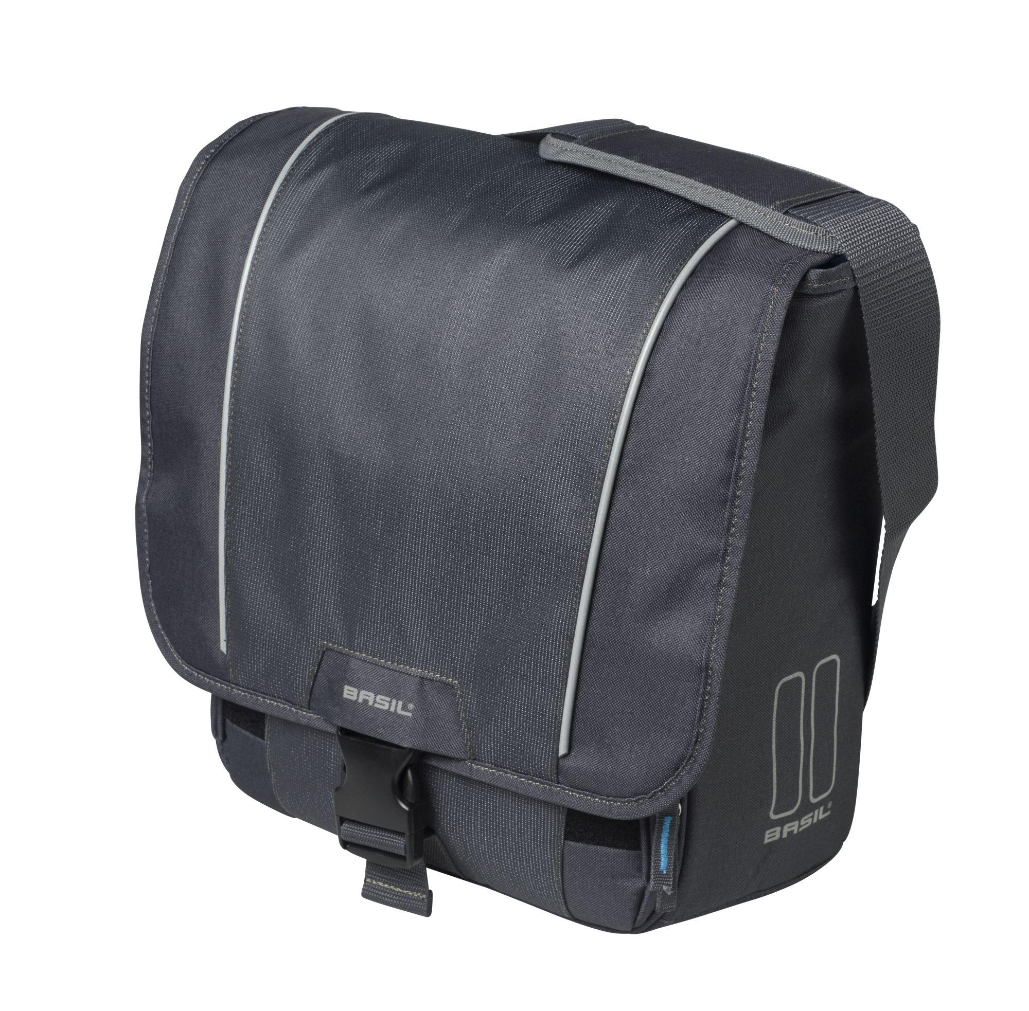 Basil Fahrrad-Schultertasche graphite Sport Design Commuter Bag
