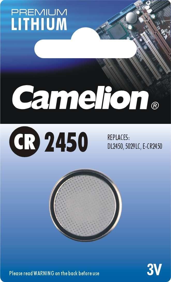 zubehör computer & pulsuhren: Camelion  Knopfzelle CR 2450 1-er