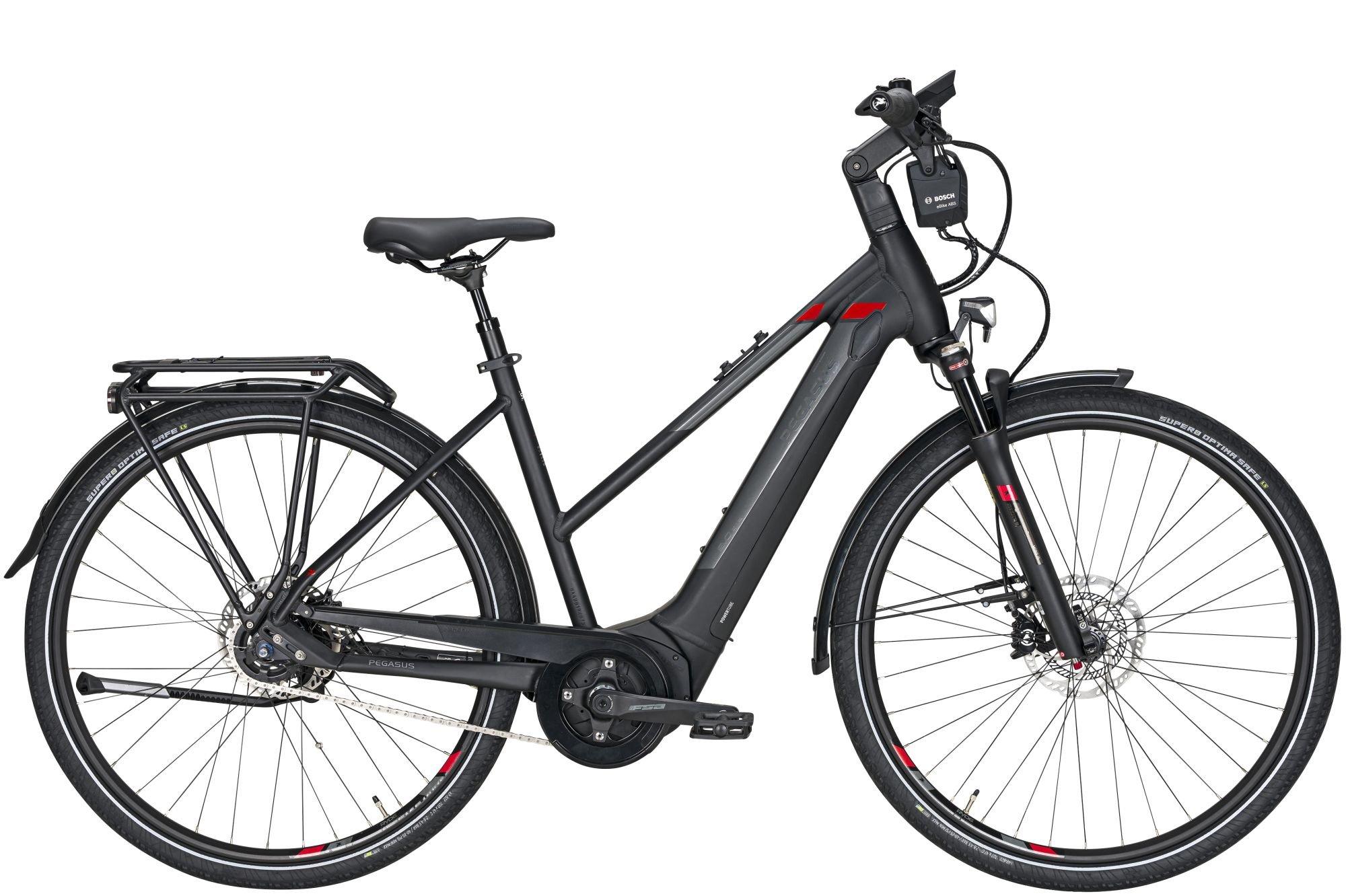 E-Bikes: Pegasus  Premio Evo 5F ABS (500 Wh) 5 Gang Nabenschaltung Damenfahrrad Trapez Modell 2021 28 Zoll 45 cm