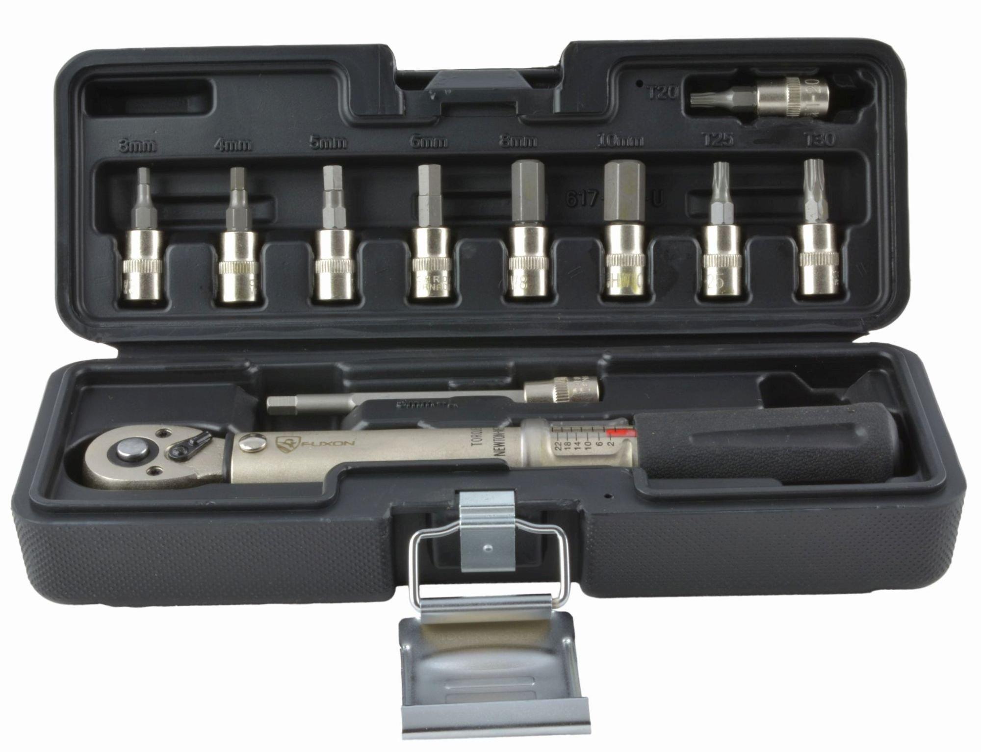 Fuxon Drehmomentschlüssel 2-24 Nm. 8-tlg