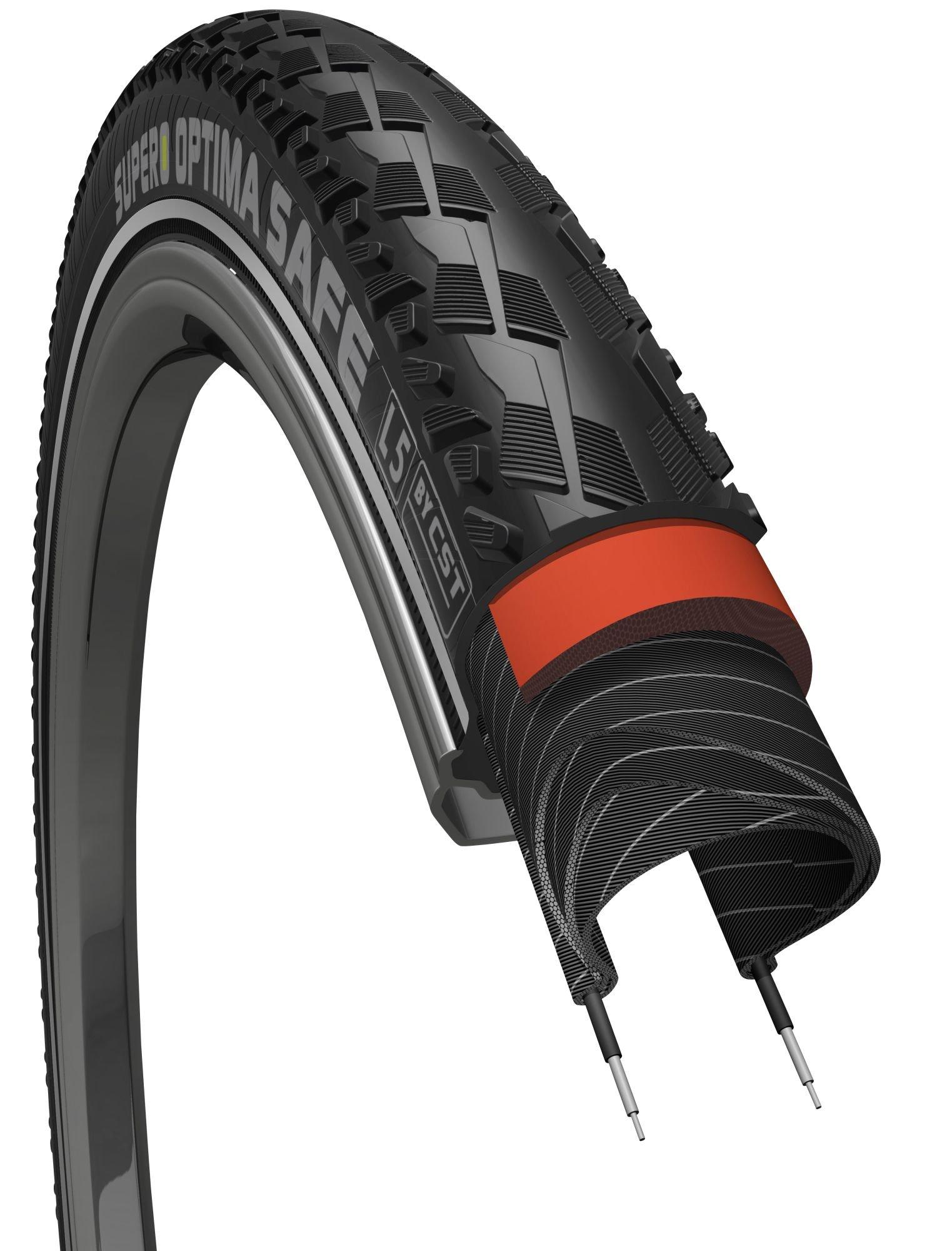 E-Bikes/Bereifung: Supero  E-Bike - Reifen - Drahtreifen- C 3031 - 28 Zoll OPTIMA SAFE (47-622)