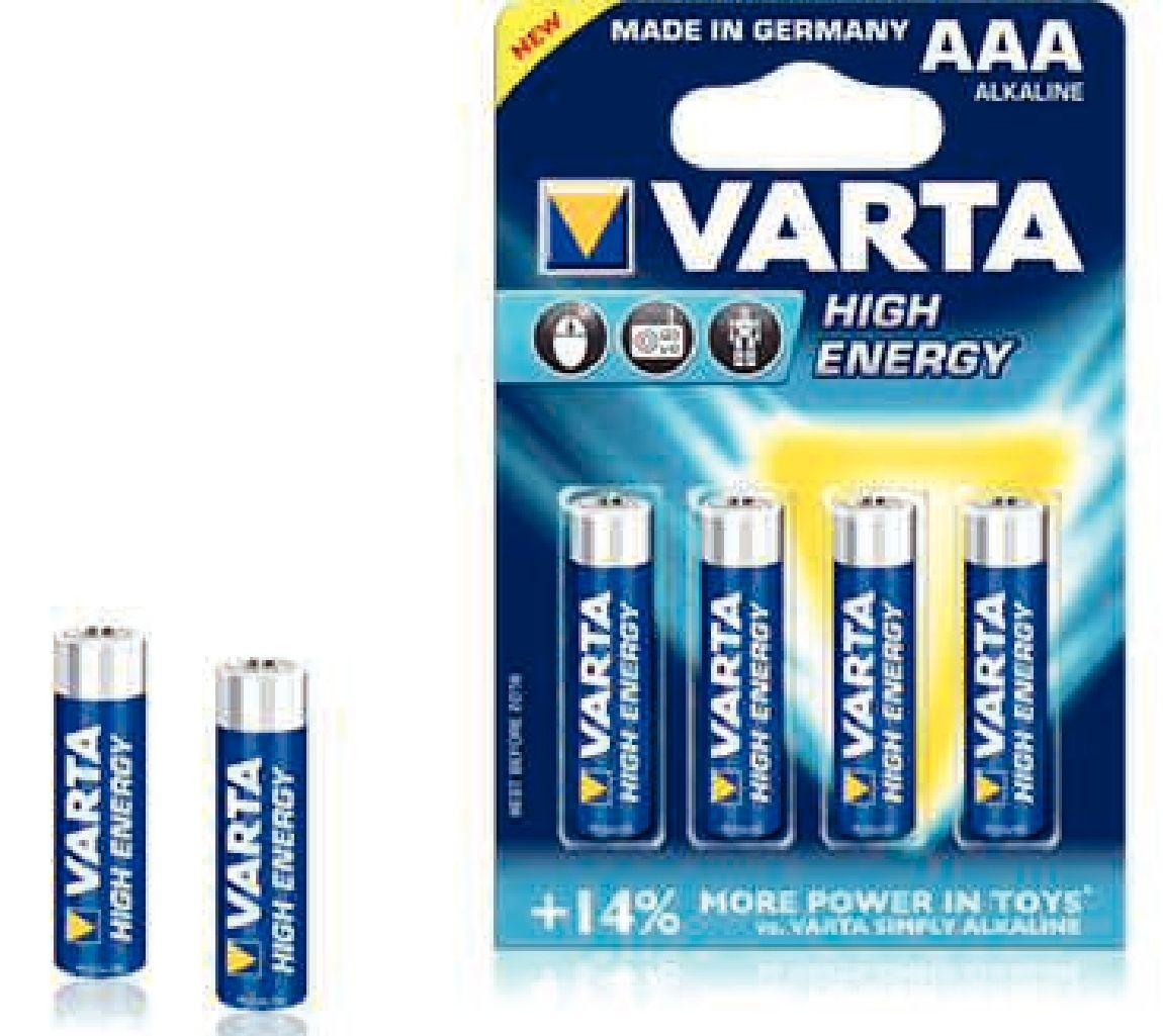 zubehör computer & pulsuhren: Varta  High Energy Micro AAA LR03 4Stück