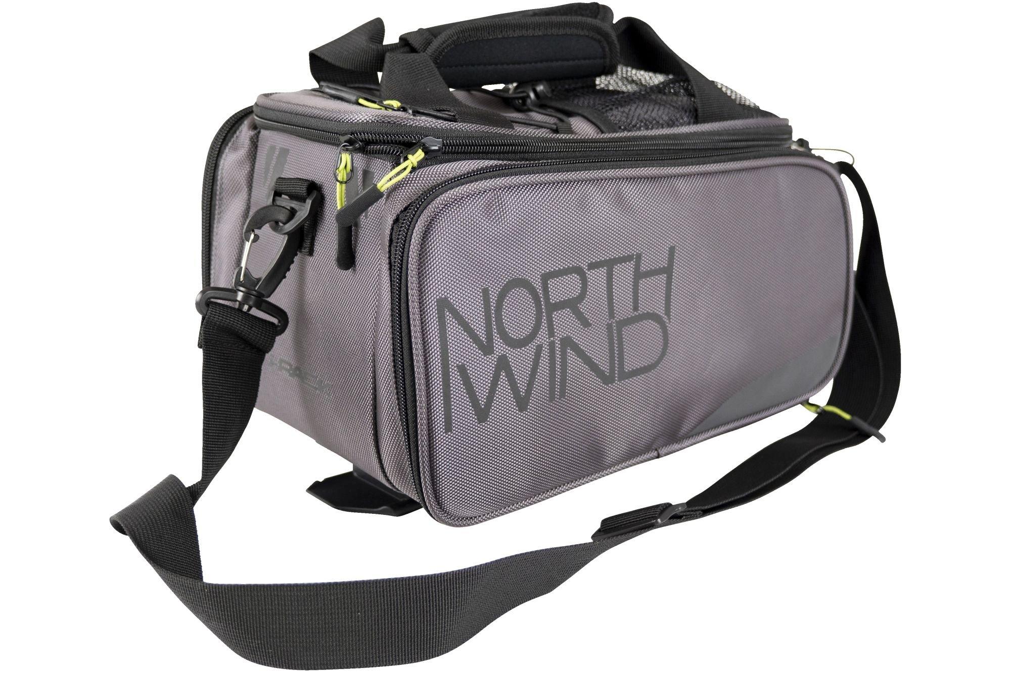 Northwind Gepäckträgertasche Smartbag Touring i-Rack II (grau/lime)