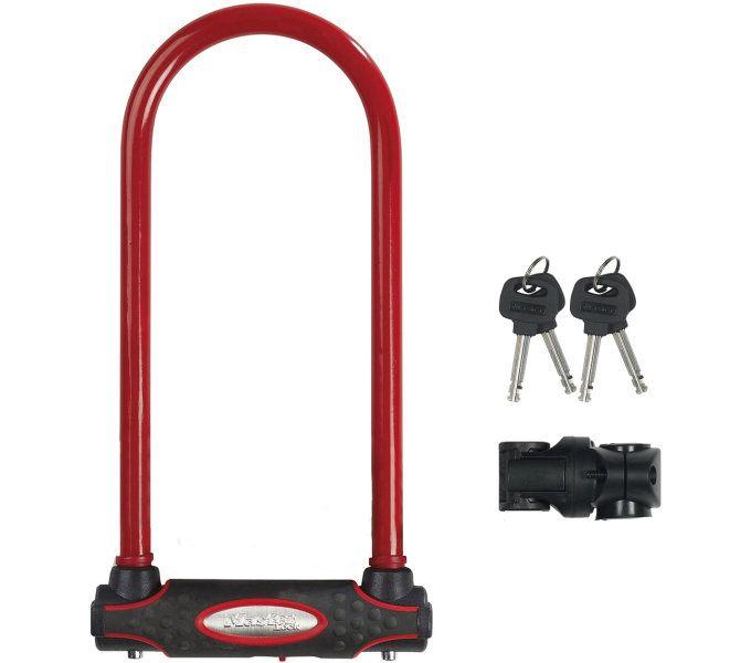 bügelschlösser/Schlösser: Master Lock  Bügelschloss 8195LW (bl) 13 mm x 280 mm x 110 mm Rot