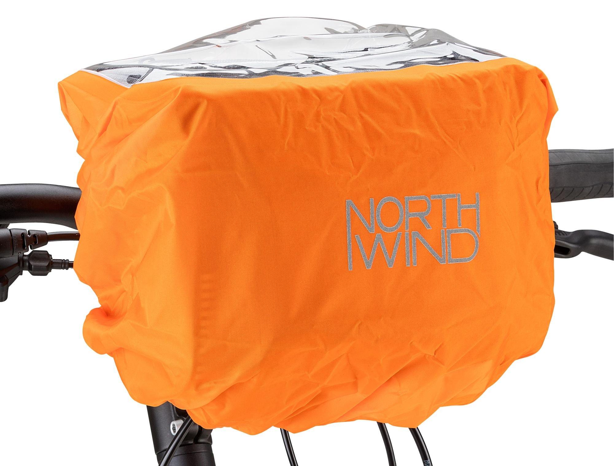 zubehör taschen/Koffer & Körbe: Northwind  Regenschutzhülle für Lenkertasche Rain Cover Handle Bar 2-5 Ltr