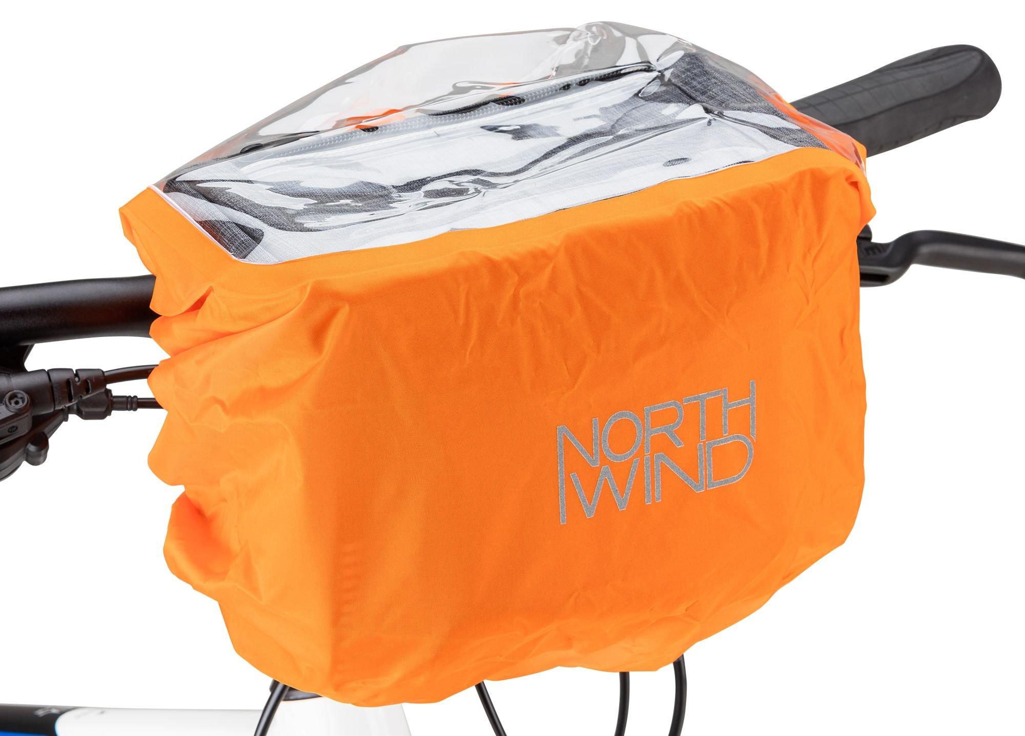 zubehör taschen/Koffer & Körbe: Northwind  Regenschutzhülle für Lenkertasche Rain Cover Handle Bar 5-8 Ltr