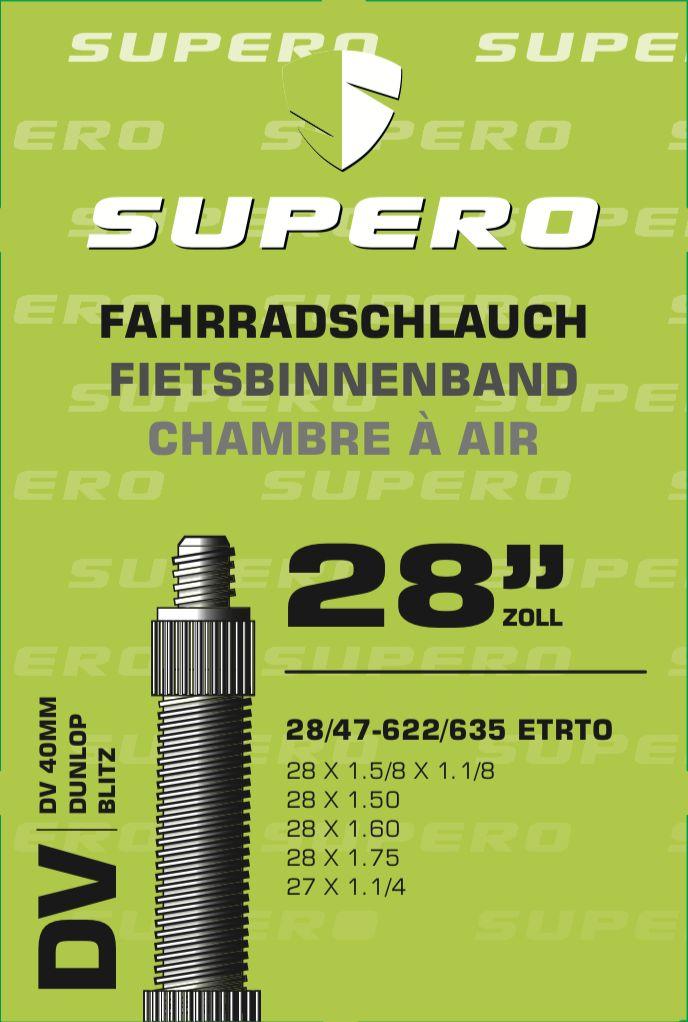 schläuche/Bereifung: Supero  Fahrradschlauch 28